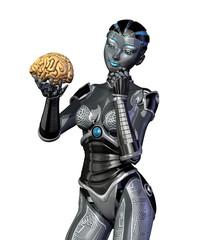 Robot Examines a Human Brain