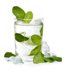 Mint ice vodka