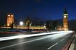 Travel through London at night