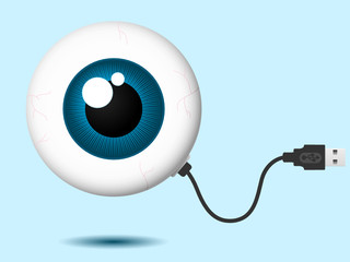 Eyeball with USB cable