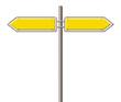 Wegweiser gelb
