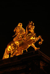 Dresden Goldener Reiter Nacht - Dresden Golden Knight night 16