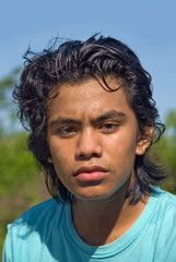 Portrait of Indian teenager jogger