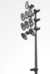 isolated stadium floodlight, white background