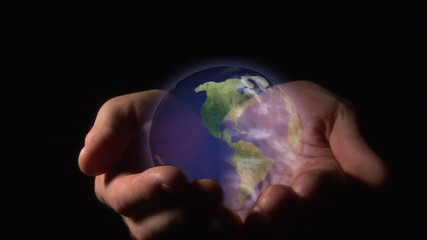 World in a hands