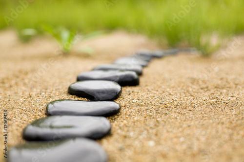 abstract stone path