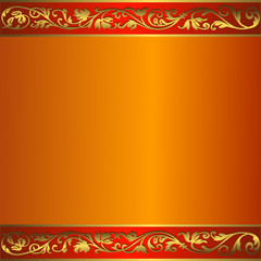 Vintage orange frame with  place for the text