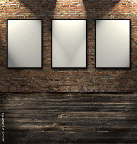 Three empty frames