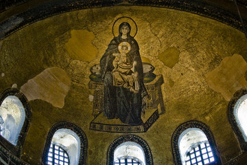 Virgin Mary at Hagia Sophia's Apse