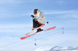 Aeroski: a skier on a high jump