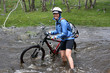 River Crossing on a Mountain Bike