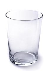 Empty Glass on White