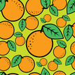 roleta: Seamless bright pattern with oranges