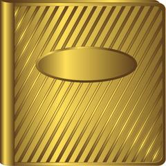 Vintage golden album cover (vector)