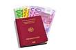 Reisepass mit Geld