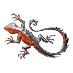 Ilustracion de una Salamandra realizada en cromo