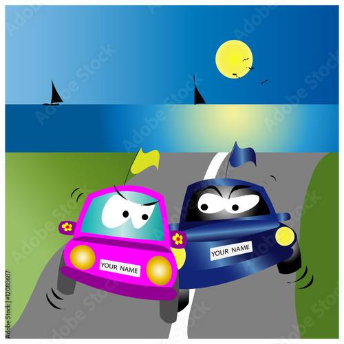 Foto op Plexiglas Cars macchinine in sorpasso