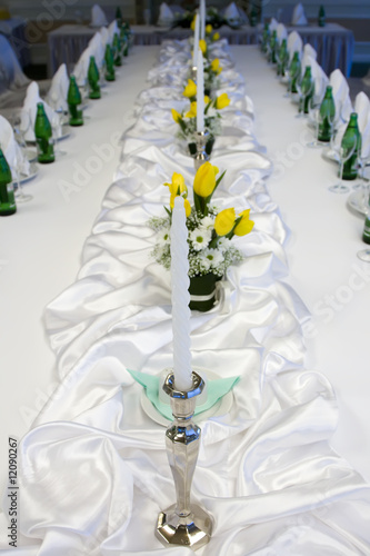 wedding table in restaurant