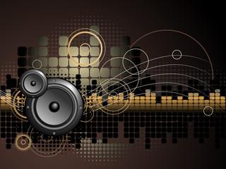 Urban Music Background - Vector