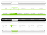 Fototapety Editable Website Navigation Templates - Vector