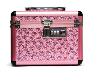 pink safe box with padlock