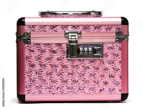 pink safe box with padlock