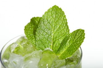Mint ice vodka