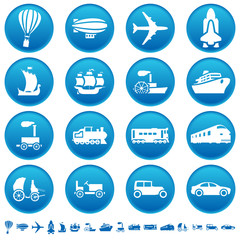 Transportation progress icons