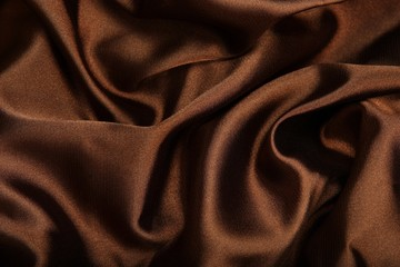 .Brown smooth textile as abstract background