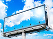 Big blank  billboard with cloudy sky