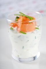 Delicious salmon appetizer