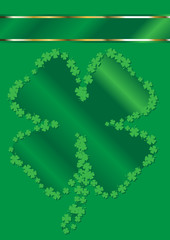 St. Patrick's Day Shamrock Shape Border Background
