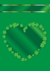 St. Patrick's Day Heart Shape Border Background