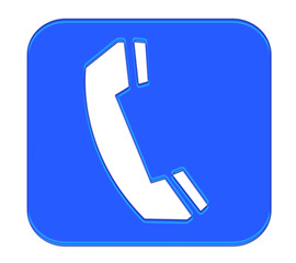 Phone Button Blue