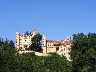 Hohenschwangau castle in algau