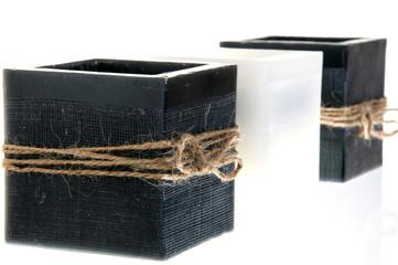 Closeup to three candlesticks