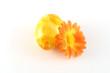 buntes osterei mit kunstblume
