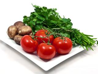 Vegetable plate
