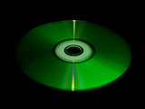 Green CD/DVD disc