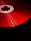 Red CD/DVD disc