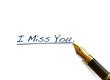 "Handwritten Words - ""I Miss You"""
