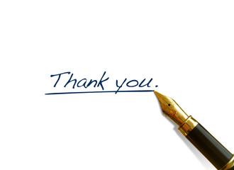 """Handwritten Words - """"Thank You"""""""