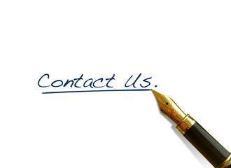 """Handwritten Words - """"Contact Us"""""""