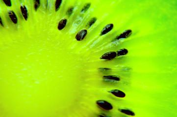 macro photo of a kiwi