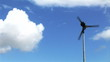 Stock video footage of a wind turbine