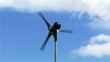 Wind turbine in motion footage