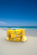 Bagage on beach