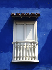 balcony of a colonial house in Cartagena, Colombia
