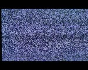 Neige sur écran de télévision avec son.