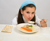 girl matzo ball soup